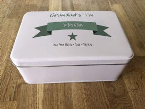 PERSONALISED GRANDAD'S Tin Present ANY NAME Cake ~ Sweets Biscuits Gift Birthday